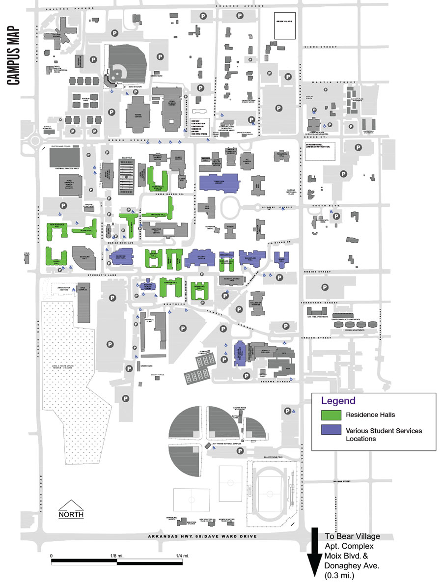 campus map uca online visitor s guide